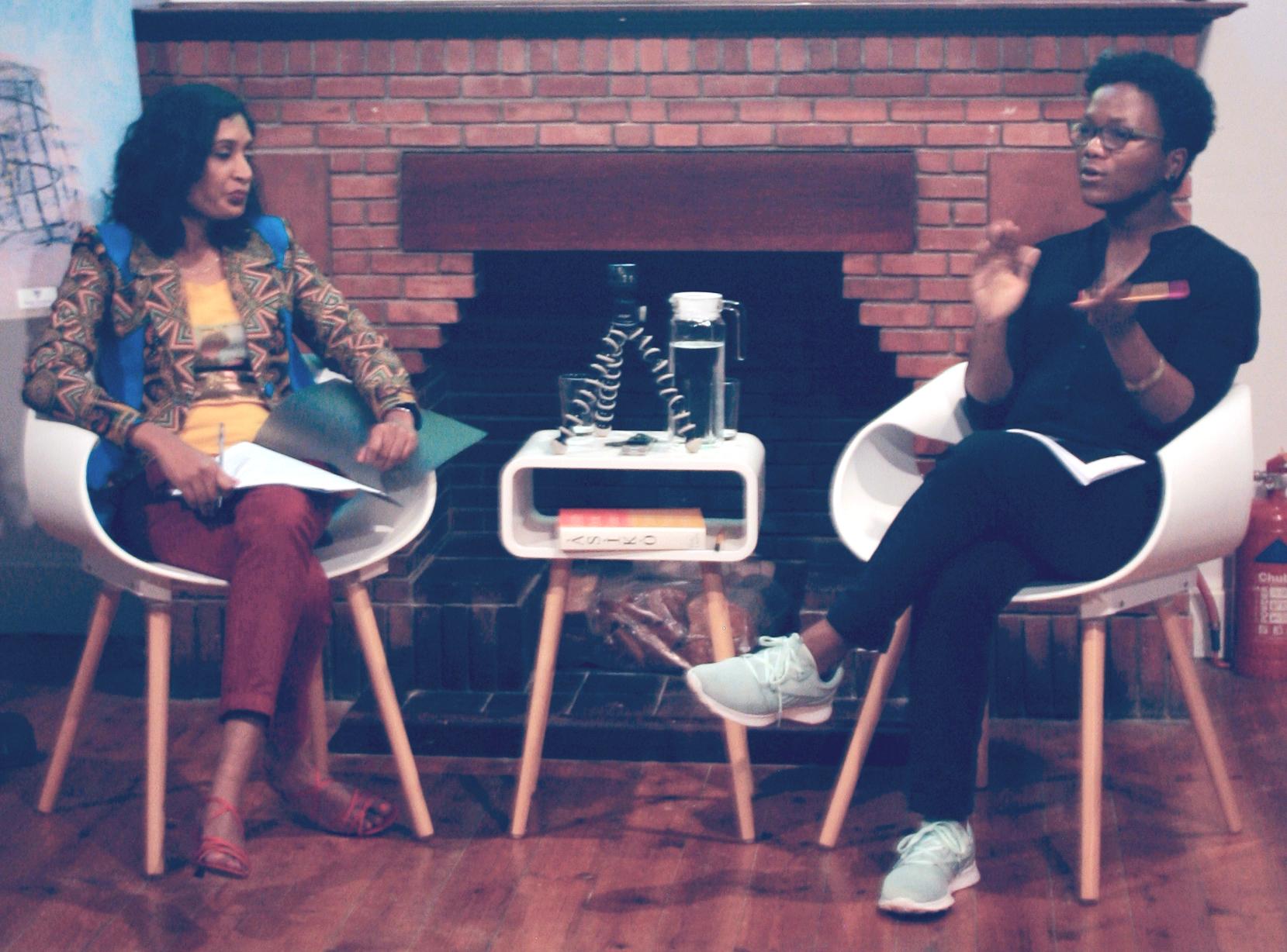 Sharlene Khan in Creative Dialogue with Nontobeko Ntombela.